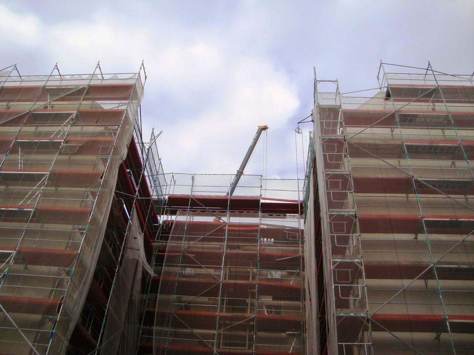 Denkmalimmobilie in der Sanierung