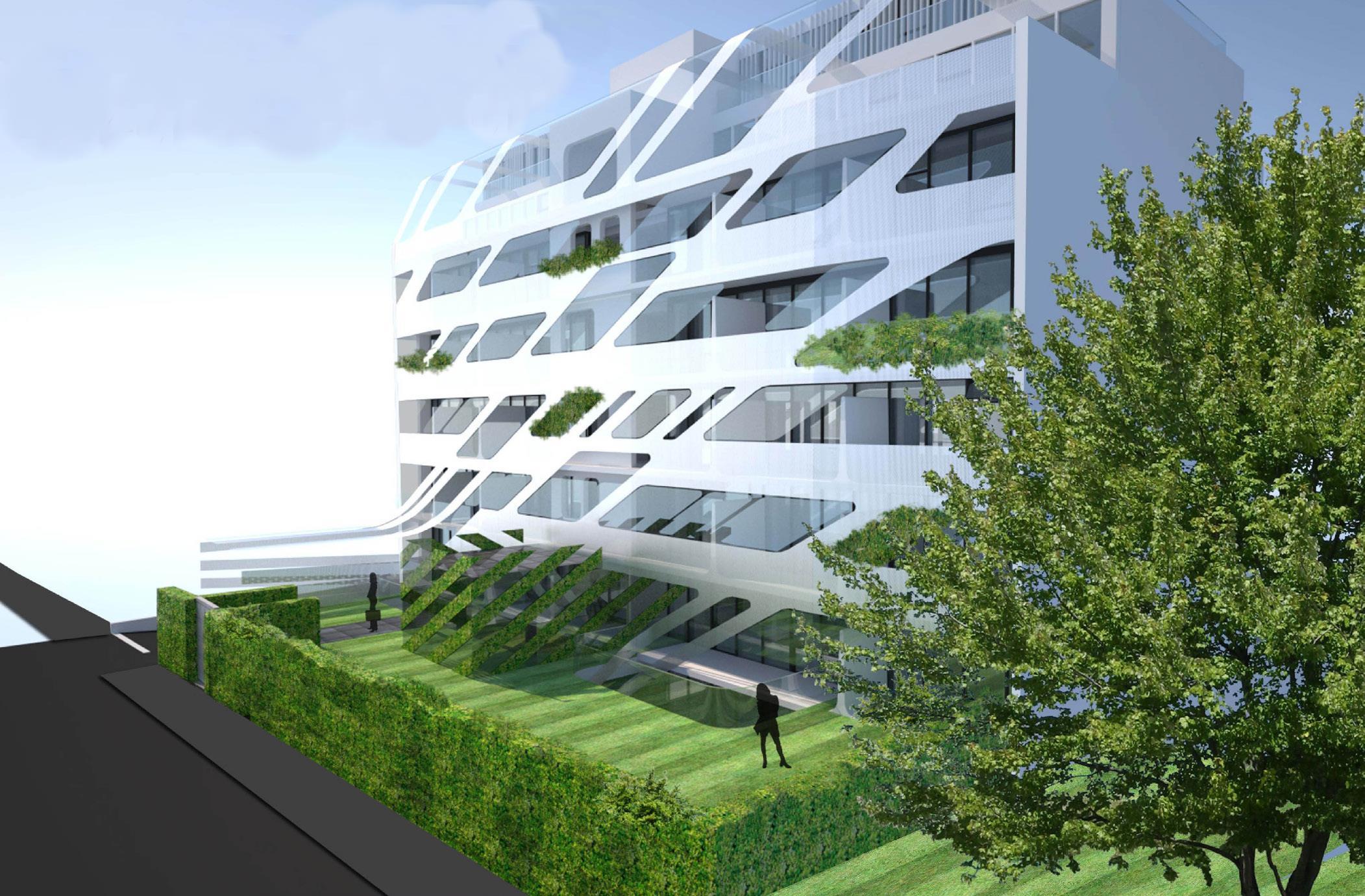 Neubau Eigentumswohngen Düsseldorf Front